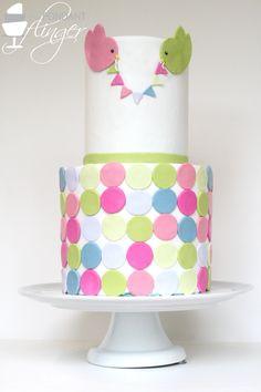 Beautiful multicolored baby shower cake