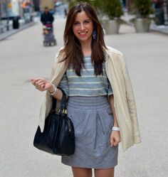 This outfit via Girl Avant Garde is so pretty and perfect!  As always, love the stripes!