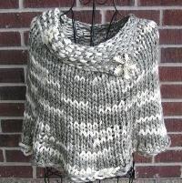 Quick Knit Capelet - via @Craftsy