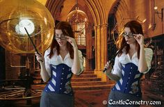 Ravenclaw Corset by castlecorsetry on Etsy, $275.00