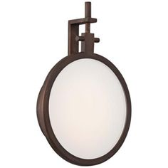 "George Kovacs Loupe 9 1/2"" High Bronze LED Wall Sconce - #2J200 