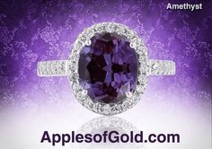 Three Reasons to Choose an Amethyst Engagement Ring on http://applesofgold.com/jewelry/three-reasons-to-choose-an-amethyst-engagement-ring/