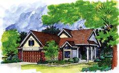 Narrow Lot   Traditional   House Plan 88218
