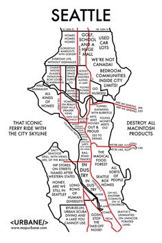 Map of Seattle Neighborhoods Seattle Area, Seattle Map, Hello Seattle, Moving To Seattle, Seattle Washington, Seattle Vacation, Seattle Seafood, Living In Washington State, Seattle Photos