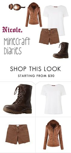 """""""Nicole (Minecraft Diaries)"""" by benjiedaisy ❤ liked on Polyvore featuring Charlotte Russe, MaxMara and Current/Elliott"""