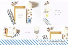 Styled Stock Photography Pack - 08 - Product Mockups #psd #card #invitation