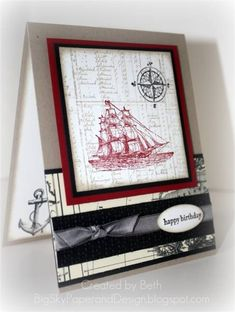 CT0511, SC337, Sailing the open sea... by bigsky - Cards and Paper Crafts at Splitcoaststampers