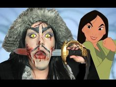 MULAN STABBED SHAN YU MAKEUP TUTORIAL!