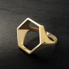 The geometrically inspired forms in this series of 3D-printed unisex rings create a clean and modern silhouette on your hand. Many customers enjoy stacking multiple 'Silhouette Rings' on a hand to cre