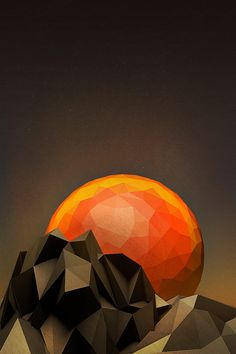 polygons and colors, I love this image. Via GEO A DAY