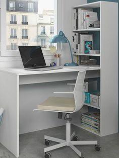 Home Office Furniture Desk, Trendy Furniture, White Furniture, Table Furniture, Furniture Ideas, Desk Ideas, Furniture Storage, Office Ideas, Multifunctional Furniture