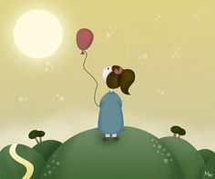 Sunset #cute #illustration #characters