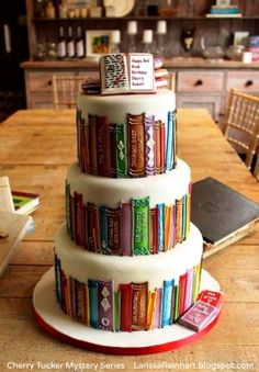 Book promo cake. Cherry Tucker Mystery Series (Henery Press) by Larissa REINHART, (Author, Georgia, USA) http://larissareinhart.com Now that's some appealing advertising & marketing! Cute & clever. COPYRIGHT LAW: http://www.pinterest.com/pin/86975836527280978/ PINTEREST on COPYRIGHT: http://pinterest.com/pin/86975836526856889/ The Golden Rule: http://www.pinterest.com/pin/86975836527744374/ Food for Thought: http://www.pinterest.com/pin/86975836527810134/