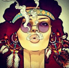Idea: Captures the feel the free love, free drugs, good times, no worries attitude. Doesnt capture the protesting aspect of Woodstock. Or the time period. Hippie Style, Art Hippie, Hippie Love, Hippie Chick, Hippie Drawing, Bohemian Art, Hippy Art, Bohemian Design, Bohemian Style