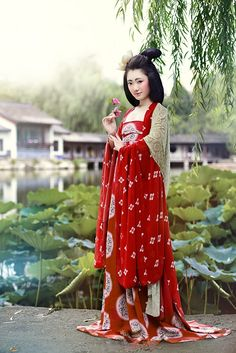 women dress from tang dynasty (汉服 Hanfu) #women #fashion #china