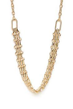 ShopSosie Style : Gilded Tracks Necklace