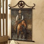 This is an oil painting wall hanging.  I would like to have something like this or a leather wall hanging.