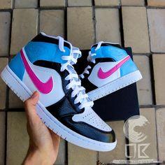 Custom Jordan Shoes, Jordan Shoes Girls, Air Jordan Shoes, Girls Shoes, Cute Nike Shoes, Cute Nikes, Nike Air Shoes, Nike Air Jordans, Cute Jordans
