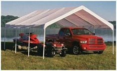 ShelterLogic Instant Carports at Amazon.com - a quick, inexpensive way to get your stuff under a shelter.
