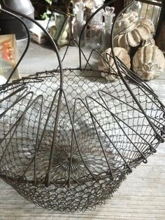 French Wire Collapsable Basket