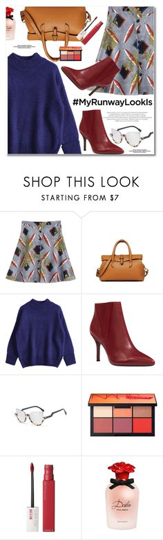 """""""What's YOUR Runway Look?"""" by svijetlana ❤ liked on Polyvore featuring Nine West, Maybelline, Dolce&Gabbana, zaful and MyRunwayLookls"""