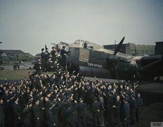 LANCASTER CELEBRATES ITS 100TH OPERATIONAL FLIGHT, WADDINGTON, LINCOLNSHIRE, MAY 1944