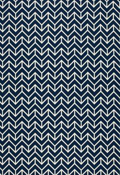 2644031 Chevron Print Navy by F Schumacher Fabric
