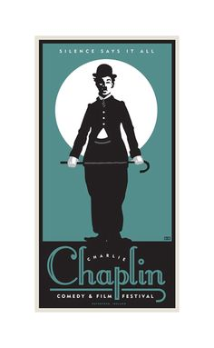 Charlie Chaplin Film Festival Poster by Illustrator Ted Wright.