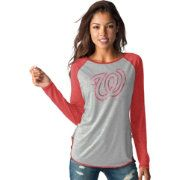 Touch by Alyssa Milano Women's Washington Nationals Grey/RedLong Sleeve Shirt