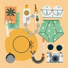 Suitcases - Maizle Illustration