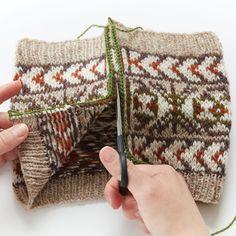Tutorial on how to do a steek. Tutorial with photos from #interweave  #fairisle #steek #steeking #advancedknitting #howtosteek