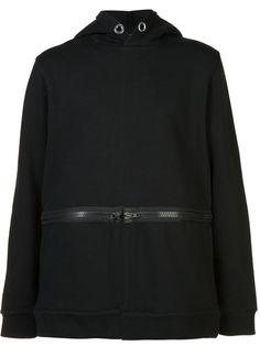 GIVENCHY Slit-Detail Hooded Sweatshirt. #givenchy #cloth #sweatshirt