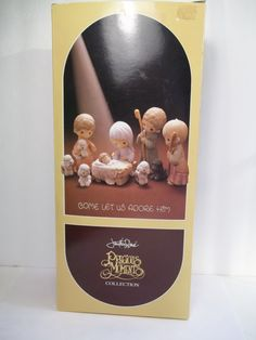 Precious Moments Nativity Set Come Let Us Adore by WitsEndDesign