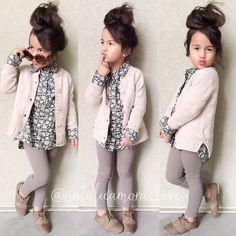 Fashionable kids, girls fashion kids, little girl fashion, toddler fashion, Little Girl Outfits, Cute Outfits For Kids, Little Girl Fashion, Cute Kids Fashion, Toddler Fashion, Child Fashion, Fashion Wear, Fashion Photo, Fall Fashion