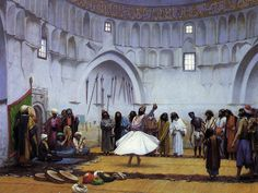 Whirling Dervishes 1895 painting