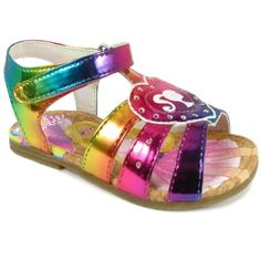 23e045a6376 Barbie Girls Rainbow Sandals BBS604 (10 M US Toddler) Mattel