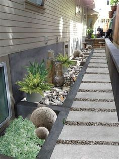 Simple Side Yard Paver Patio Design Ideas 211 – GooDSGN Backyard on a budget side yards Simple Side Yard Paver Patio Design Ideas 211 Small Backyard Landscaping, Landscaping With Rocks, Backyard Patio, Landscaping Ideas, Backyard Ideas, Backyard Designs, Modern Backyard, Arizona Landscaping, Desert Backyard