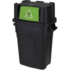 Home Depot Recycling Bins Rubbermaid Commercial Products 14 Galrecycling Bin  Commercial