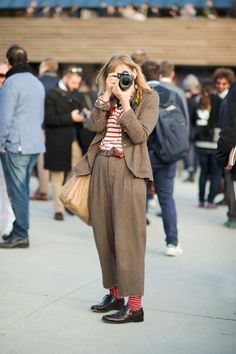 See All the Best Street Style From Milan Men's Fashion Week Street Style Vintage, Mode Vintage, Style Grunge, Hipster Grunge, Mode Outfits, Fashion Outfits, Womens Fashion, Fashion Trends, Fashion Ideas