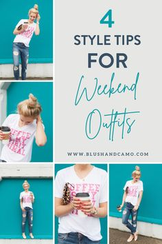 Today I'd like to share with you 4 style tips for the perfect weekend outfit! You know, the kind that looks like you're not trying, but you actually are putting some effort into it? Whether you're running errands or hanging out at home, these tips will help you elevate your look! #boyfriendjeans #weekendoutfit #stealthelook