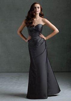 Floor Length Mermaid Taffeta Sweetheart Natural Waist Bridesmaid Gowns - Angeldress.co.uk