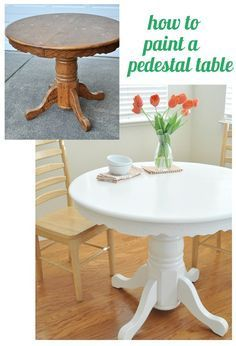 Better Homes and Gardens, How to paint a pedestal table