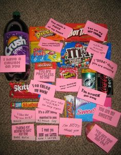 DIY gift idea Send one to him every day from the first day of February till valentines day. Description from pinterest.com. I searched for this on bing.com/images
