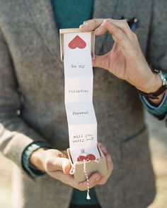 Such a sweet & simple proposal idea (would be awesome as a Valentine card as well!)