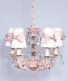 Take a look at this Pink & White Stacked Ball Chandelier by Jubilee Collection on #zulily today!