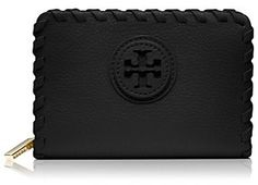 Tory Burch Marion Tall Hidden Zip Coin Case, Directly from Tory Burch - A graphic tonal logo meets intricate whipstitched detailing. Our new Marion Tall Hidden Zip Coin Case is made of super-soft pebbled leather and features a key ring in polished gold. Designed in an elongated rectangular shape, it's a smart, chic way to store your change, cards, lipstick and other small essentials. Tory Burch Official Site.