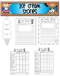 Sarah's First Grade Snippets: freebies  ice cream stories
