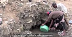 Water crisis in the slums of Mathare, Nairobi, Kenya. Poverty in Africa