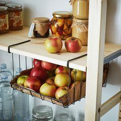 New Kitchen Design Ikea Baskets Ideas Kitchen Shelving Units, Pantry Shelving, Small Kitchen Storage, Kitchen Storage Solutions, Shelving Systems, Storage Shelving, Storage Cabinets, Organize Small Pantry, Pantry Door Storage