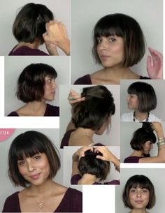 Screenshots taken from youtube video showing how to style bob